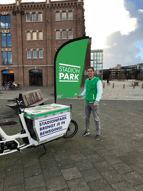 Stadionpark bakfiets on tour